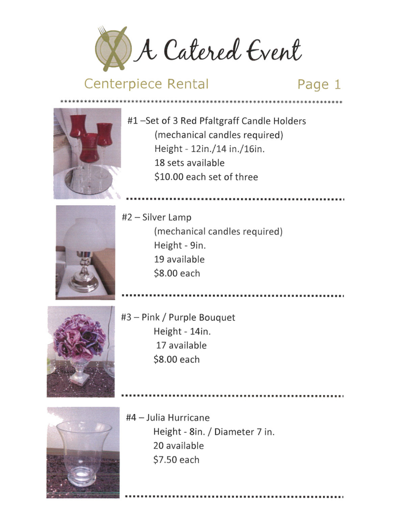 Centerpiece rental image
